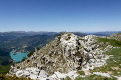 Summit of the cremon, france Stock Photos