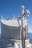 Summit Cross Bavaria Blue Sky Stock Images