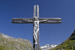 Summit Cross in East Tyrol Stock Photography