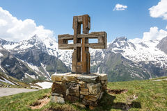 Summit Cross Stock Photo
