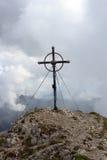 Summit cross Leilachspitze Royalty Free Stock Image
