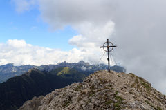 Summit cross Leilachspitze Royalty Free Stock Images