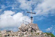 Summit cross at the Nebelhorn, Germany Stock Photography