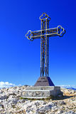 Summit cross on Punta Telegrafo Royalty Free Stock Photography