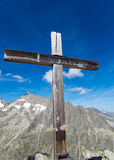 Summit cross in Switzerland Royalty Free Stock Image