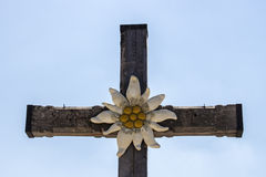 Summit cross on top of the Kehlstein in Berchtesgaden, Germany, Stock Photography