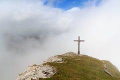 Summit cross Wiedemerkopf Stock Image