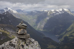 Summit of Dalsnibba. In More og Romsdal county, Norway Stock Image