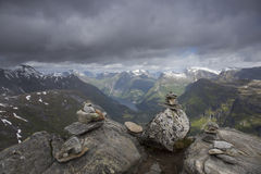 Summit of Dalsnibba. In More og Romsdal county, Norway Stock Photography