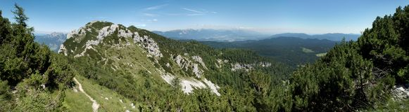 Summit of Debela pec mountain in Triglav national park in Julian Alps in Slovenia. Summit of Debela pec mountain in Triglav national park in Julian Alps Royalty Free Stock Image