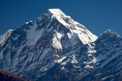 Summit of Dhaulagiri from South Stock Photos
