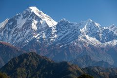 Summit of Dhaulagiri from South Royalty Free Stock Image