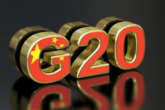 Summit G20 in China meeting concept, 3D rendering Stock Photos