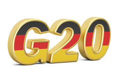 Summit G20 concept. German G20 meeting, 3D rendering Royalty Free Stock Photos
