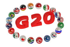 Summit G20 concept Royalty Free Stock Images