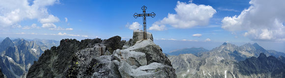 Summit of Gerlachovsky stit, Vysoke Tatry Stock Photos