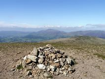 Summit of Great Dodd, Lake District Stock Images