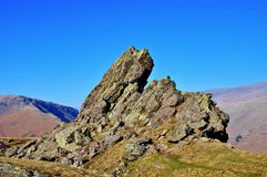 Summit of Helm Crag royalty free stock photo