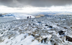 Summit of Helvellyn in winter. Royalty Free Stock Photo
