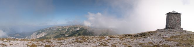 The summit of Heukuppe in Rax Alps Stock Image
