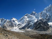 Summit of the Himalayas Mount Everest. In Nepal royalty free stock photos