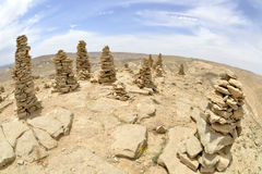 Summit Ido cairns in Negev desert. Royalty Free Stock Photography
