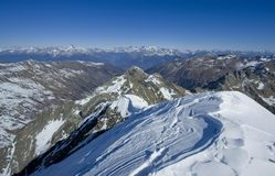 Summit of Italy Alps. View from Diavolo di Tenda summit (2914m), Italy Alps Royalty Free Stock Photography