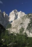Summit of Jalovec in Julian Alps Stock Photos