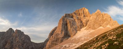 Summit of Jalovec in Julian Alps Royalty Free Stock Photography