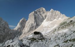 Summit of Jalovec in Julian Alps Stock Images