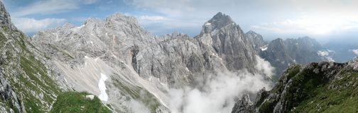 Summit of Jalovec in Julian Alps Royalty Free Stock Image