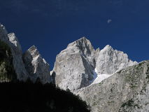 Summit of Jalovec - Triglav national park. Royalty Free Stock Images