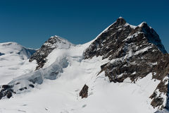 Summit of Jungfrau Stock Images