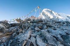 Summit of Kala Patthar. With Pumori in background, Solu Khumbu, Nepal Stock Photo