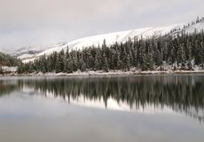Summit lake in winter Royalty Free Stock Photography