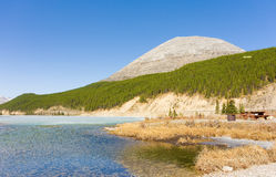 Summit lake melting in the early spring sunshine Royalty Free Stock Photos