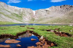 Summit Lake Mt. Evans. Summit lake at the tope of Mt. Evans, Colorado Royalty Free Stock Photography