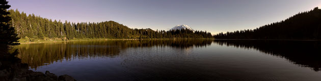 Summit Lake Panoramic view. A panoramic view of Summit Lake located in Washington state, USA Royalty Free Stock Images