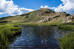 Summit lake in rocky mountain national park colorado Royalty Free Stock Image