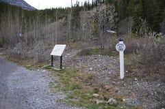 Summit Lake Sign Alaska Highway Canada Royalty Free Stock Images