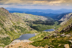 Summit Lakes. Summit Lake area of the Mount Evans Highway near Denver Colorad Stock Image