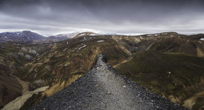 Summit at Landmannalaugar, Iceland Royalty Free Stock Image