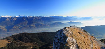 Summit landscape Stock Image