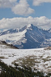 The Summit of Longs Peak as seen from Trail Ridge Road Royalty Free Stock Photo