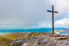 Summit of Macgillycuddy`s Reeks Royalty Free Stock Photo