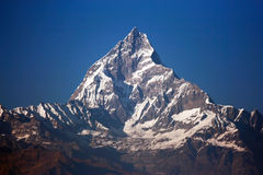 Summit of machapuchare Stock Photography