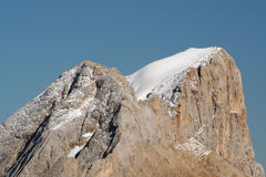 Summit of Marmolada,Italy. Snow capped summit of Marmolada in the Dolomites ,Italy royalty free stock photography