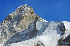 Summit of the matterhorn Royalty Free Stock Photos