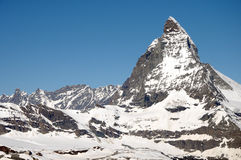 The summit of the Matterhorn Stock Photography