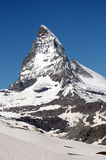 The summit of the Matterhorn Stock Image